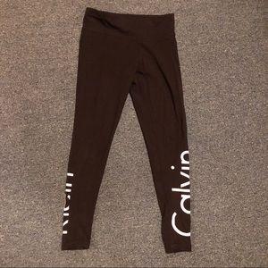 Calvin Klein performance logo black leggings small